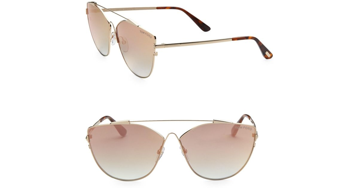 84f55278692f Tom Ford Women's Jacquelyn 64mm Cat Eye Sunglasses - Gold Brown in Brown -  Lyst