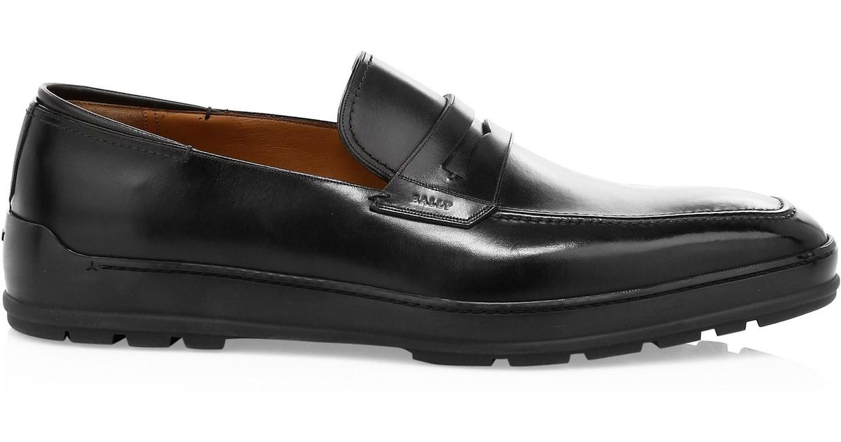 bcb353486b5 Bally Renno City Leather Penny Loafers in Black for Men - Lyst