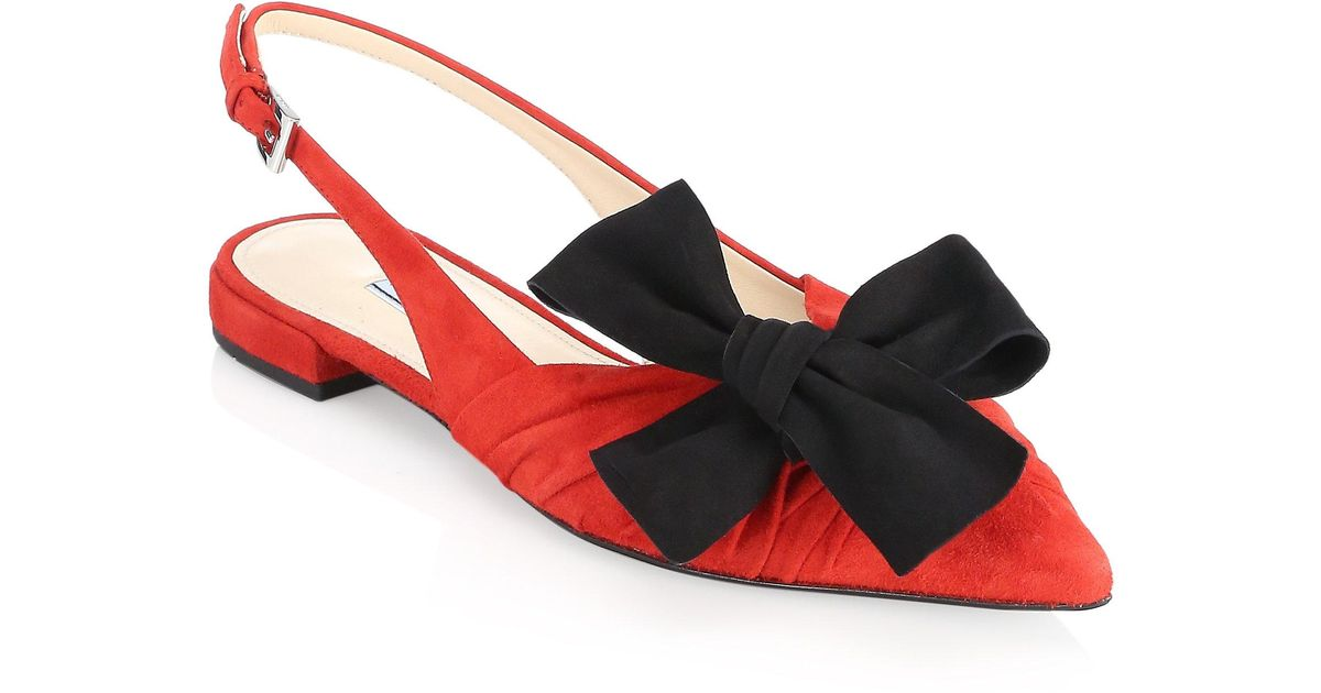 Prada Draped Leather Slingback Sandals