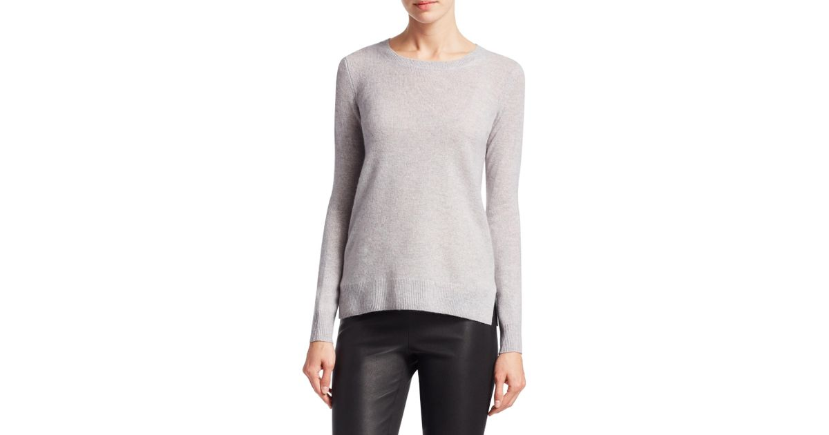 905ba83e01 Lyst - Saks Fifth Avenue Collection Featherweight Cashmere Sweater in Gray