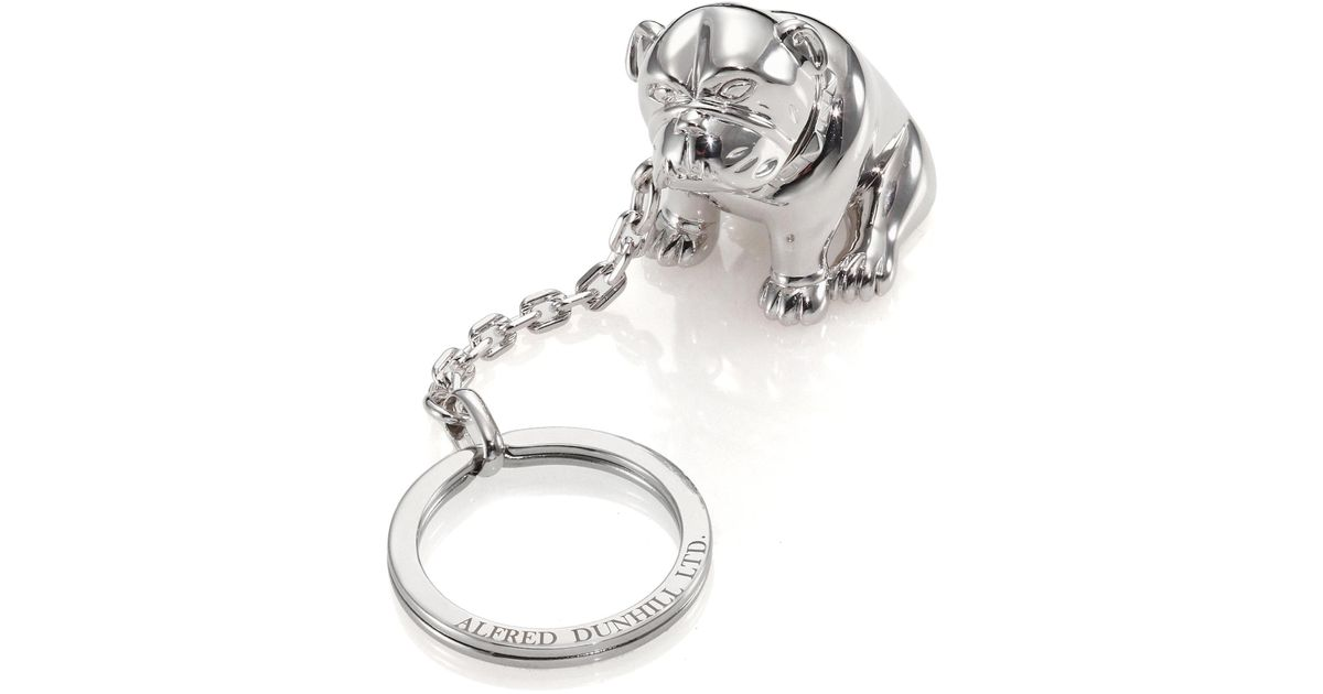 bfcaafa5b02 Lyst - Dunhill Palladium-plated Bulldog Key Chain With Rotating Detail in  Metallic for Men