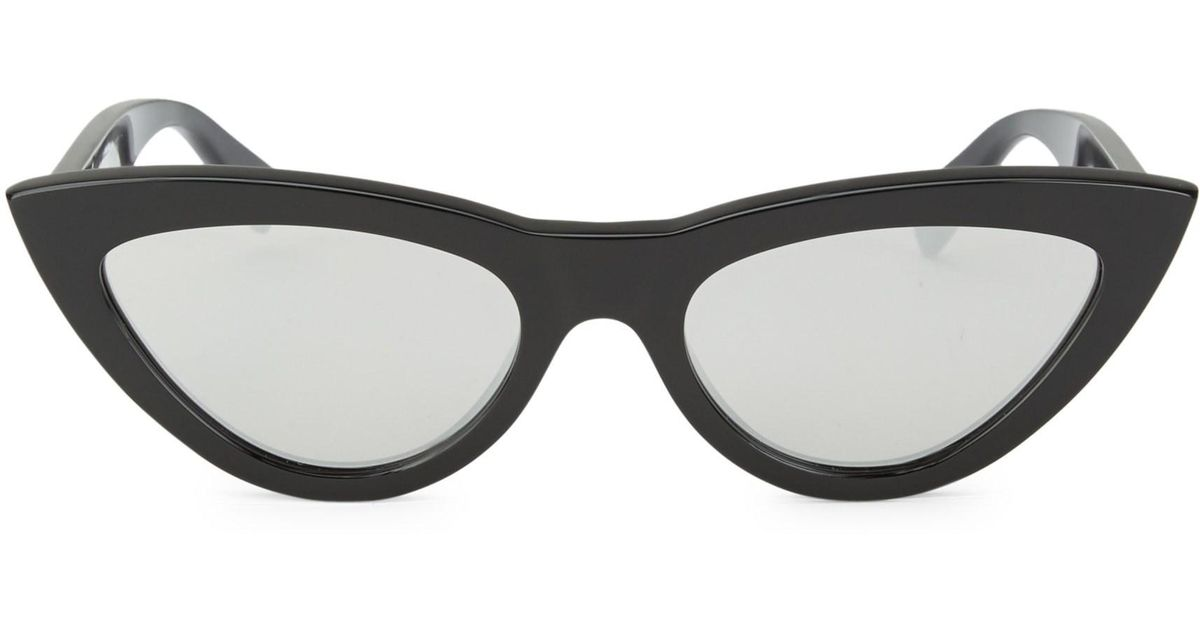 f298266fc8388 Céline Women s 56mm Cat Eye Sunglasses - Black in Black - Lyst