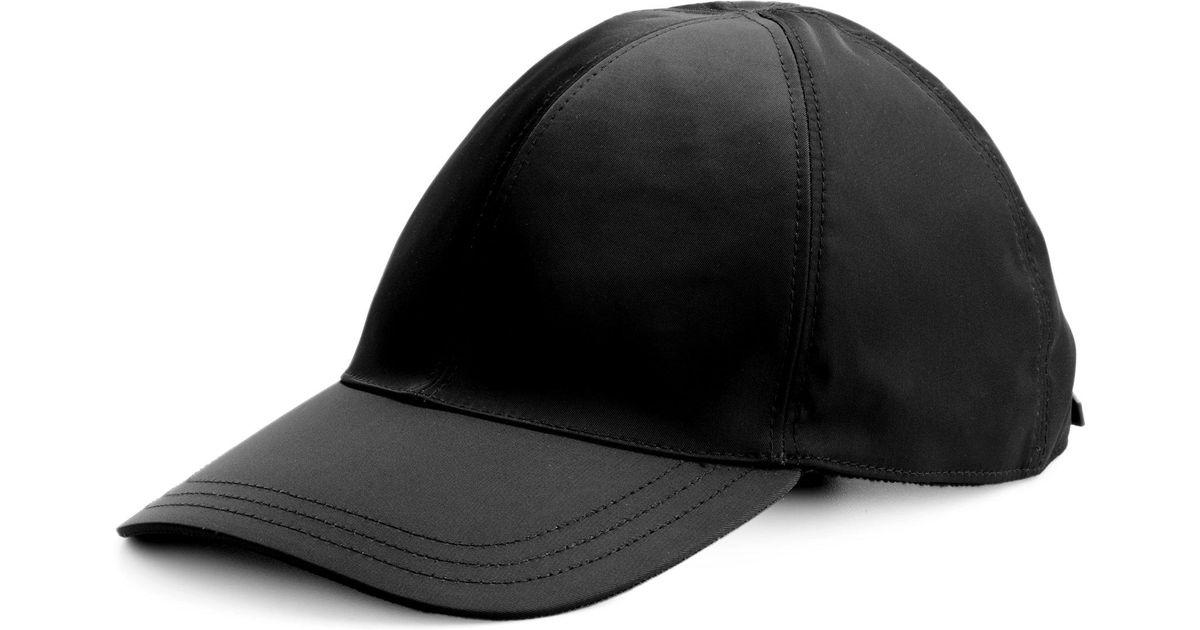 Lyst - Prada Nylon Baseball Cap in Black for Men 6c8cc60ae5b