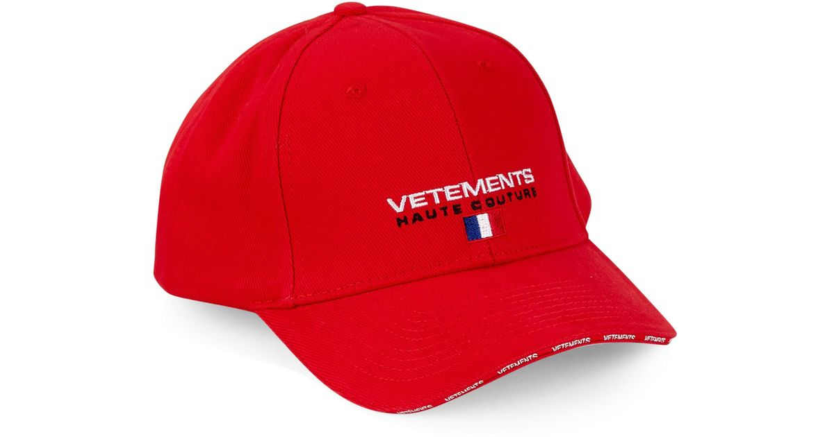 5c232f7c3d9 Lyst - Vetements Haute Couture Baseball Cap in Red