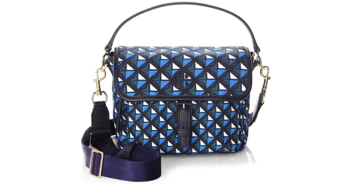 f8bdd7658e1d6 Lyst - Tory Burch Scout Print Crossbody Bag in Blue