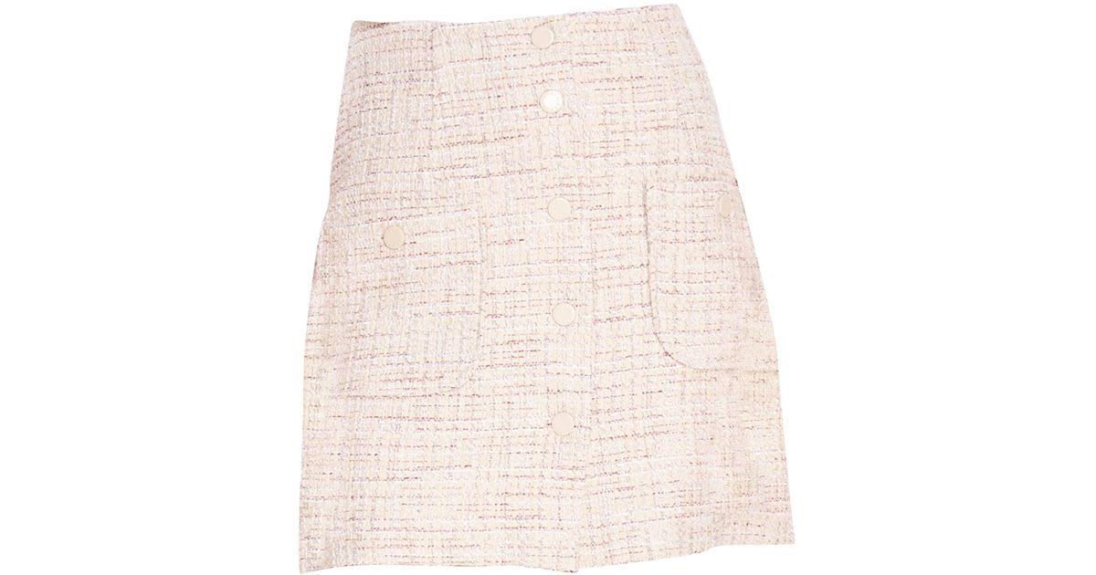 f32118bb1e6a69 Lyst - Sandro Agatha Tweed A-line Skirt in Pink