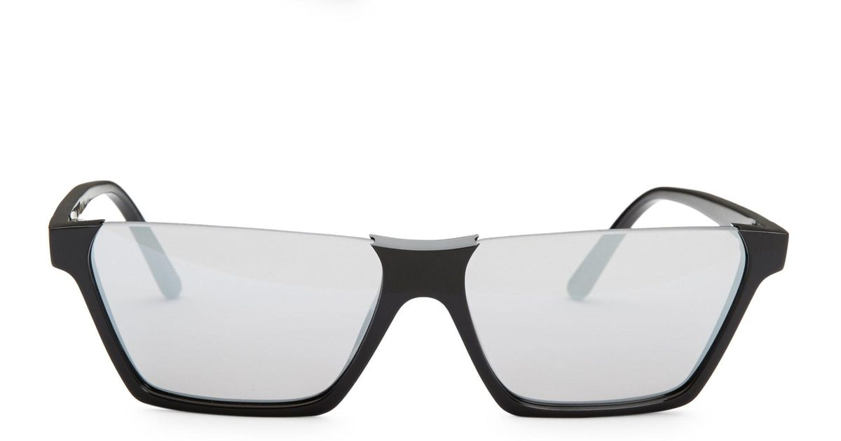 fcb078ab85a Lyst - Céline Women s 60mm Semi-rimless Rectangular Sunglasses - Grey in  Gray