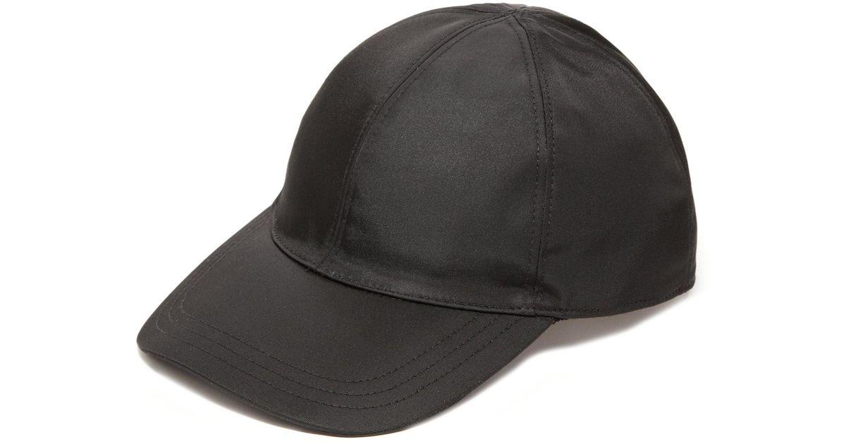 Lyst - Prada Nylon Baseball Cap in Black for Men - Save 30% c3dd36eaba4