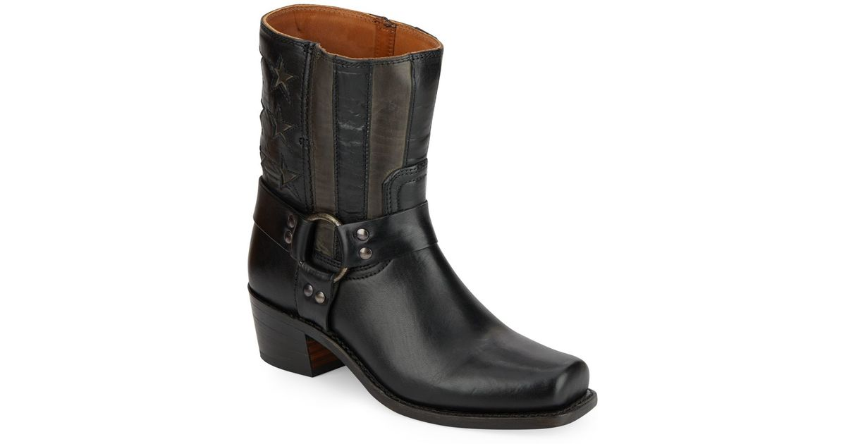 frye leather harness boots in black save 66 lyst