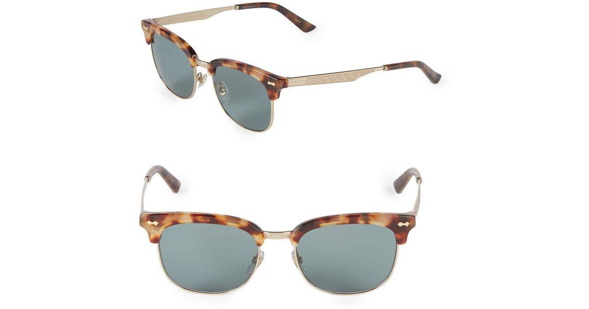 ed3be925e2 Lyst - Gucci 54mm Clubmaster Sunglasses in Metallic