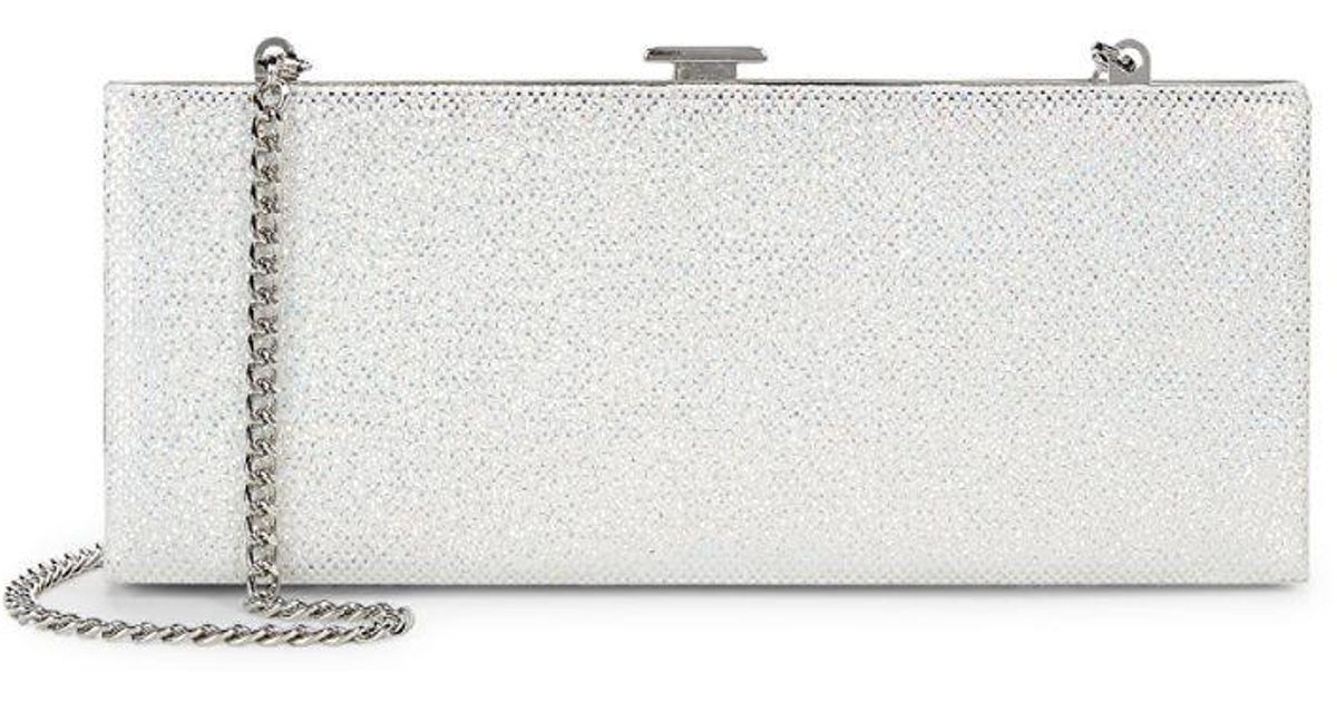 943d76836f91 Lyst - Halston Heritage Textured Leather Convertible Clutch in Metallic