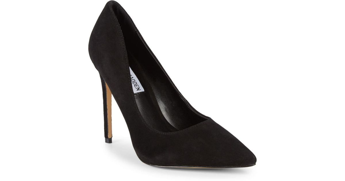 a0c471bac17 Lyst - Steve Madden Olena Pointed-toe Suede Pumps in Black
