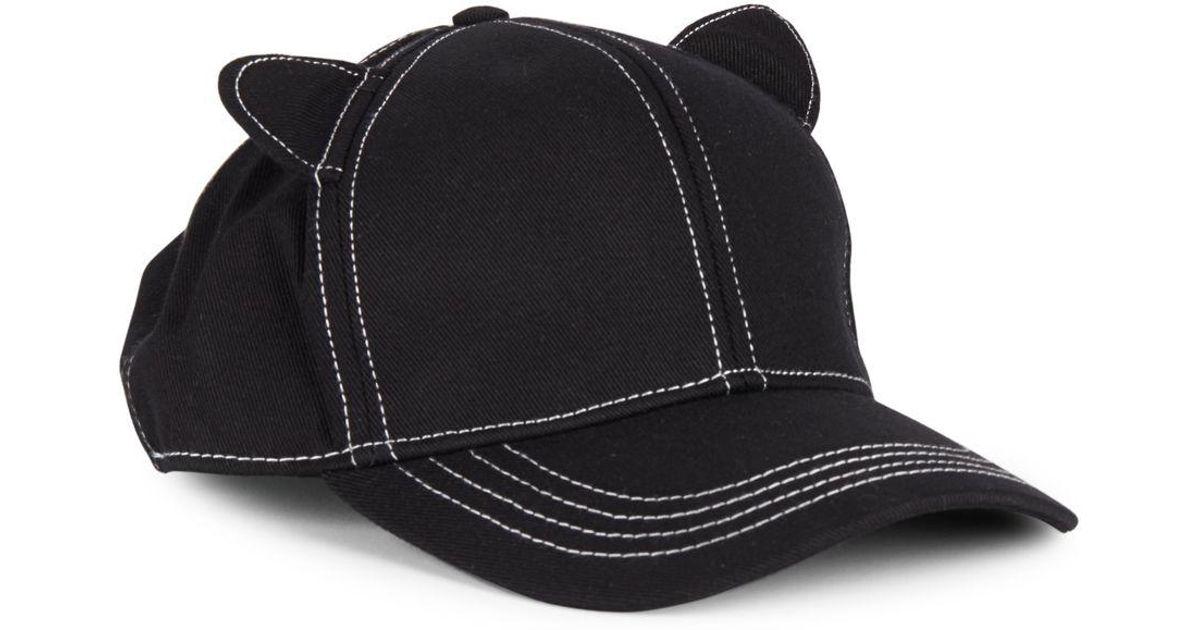 Lyst - Karl Lagerfeld Cat Ears Baseball Hat in Black for Men 3249e5a9a2e5