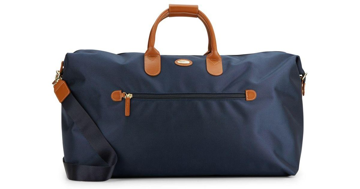 87847cdd27 Lyst - Bric s 22-inch Leather Trimmed-canvas Duffel Bag in Blue