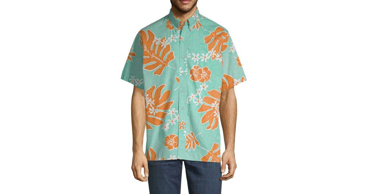 b26642a57 Reyn Spooner Old School Cotton Button-down Shirt in Blue for Men - Lyst