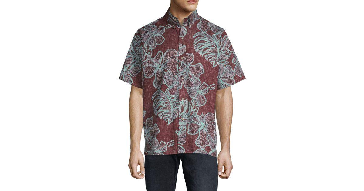 73258fbe5 Lyst - Reyn Spooner Mauna Monstera Button-down Shirt in Brown for Men