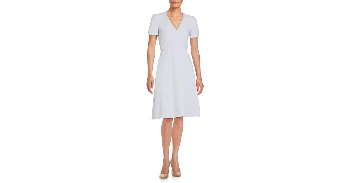 Lyst - Alexander McQueen Box Pleated Dress in White ef346ae3d