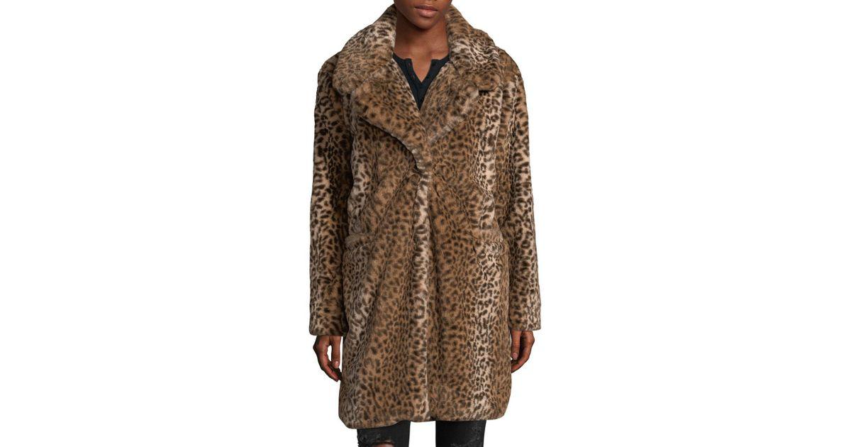 75cad47977cc C&C California Faux Fur Cheetah Coat in Brown - Lyst