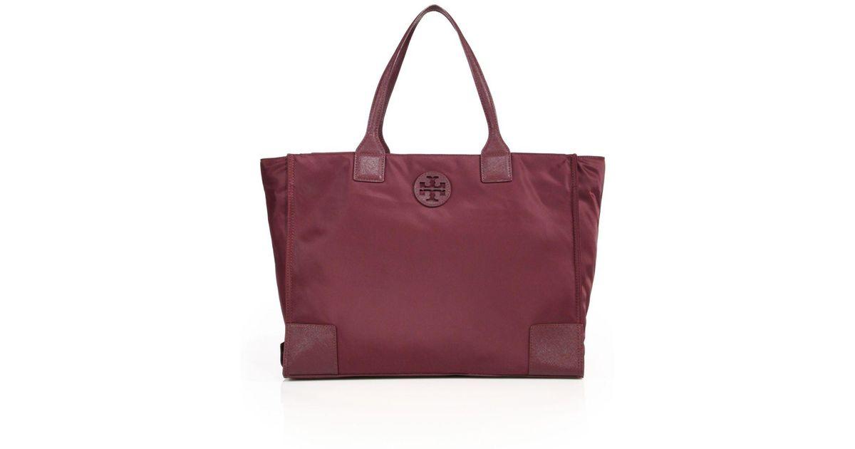 ceb6303c6d2 Lyst - Tory Burch Ella Packable Nylon   Saffiano Leather Tote