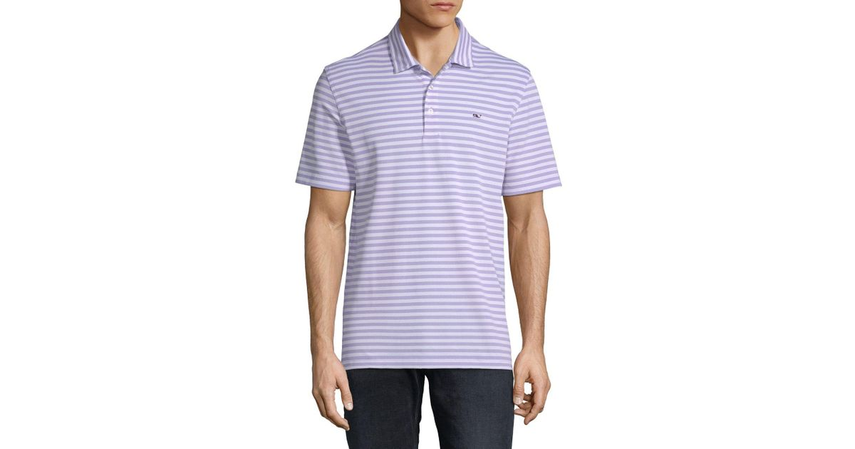 0f892287304339 Lyst - Vineyard Vines Two-tone Striped Polo for Men