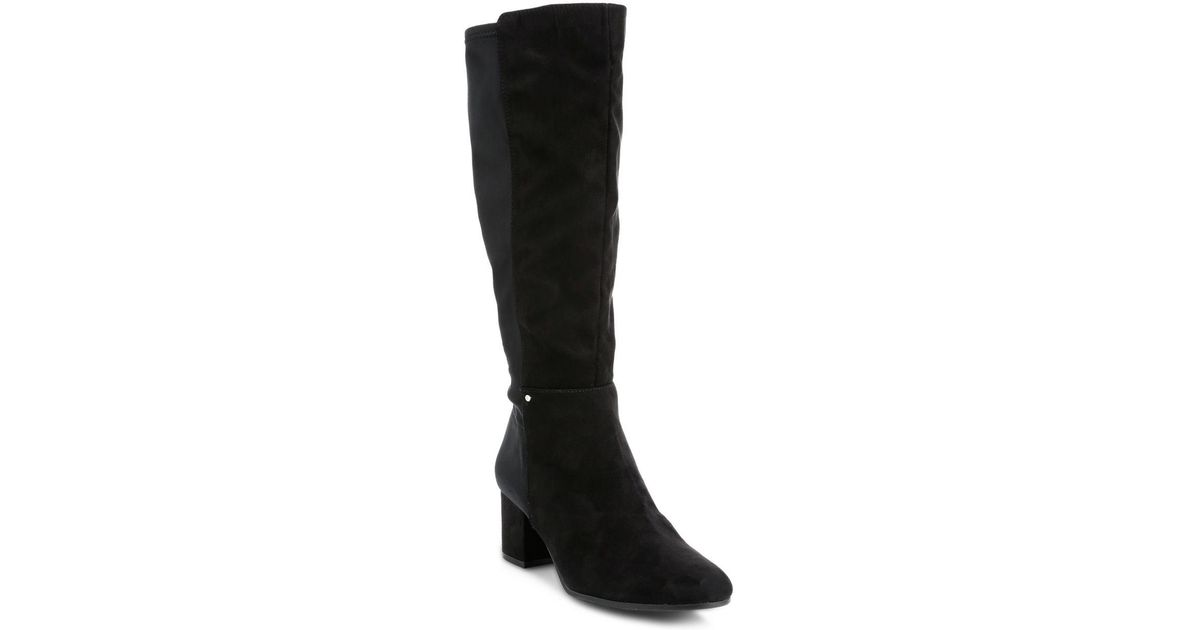 060f7be2d5eb89 Lyst - Circus by Sam Edelman Valerie Stretch Tall Boots in Black