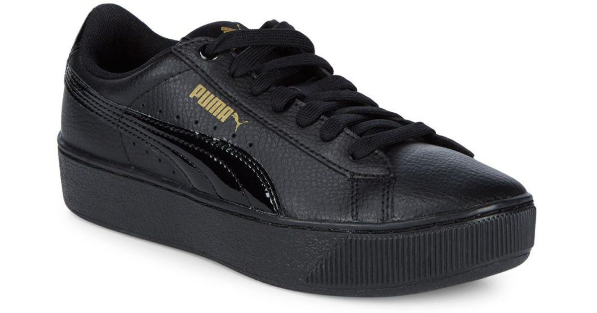 350c4930479ac6 Lyst - PUMA Vikky Platform Leather Sneakers in Black for Men