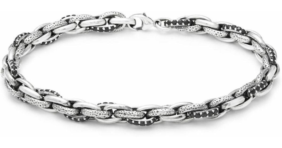 Lyst - Effy Black Sapphire And Sterling Silver Chain Bracelet in ...