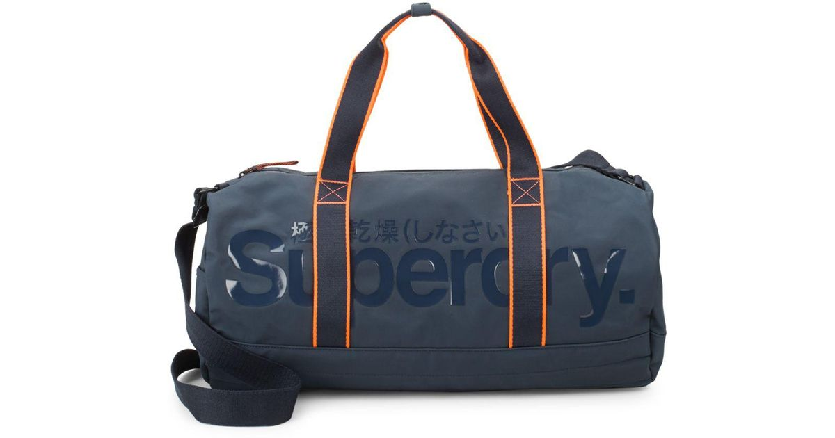 Superdry Retro Work Barrel Gym Bag In Blue