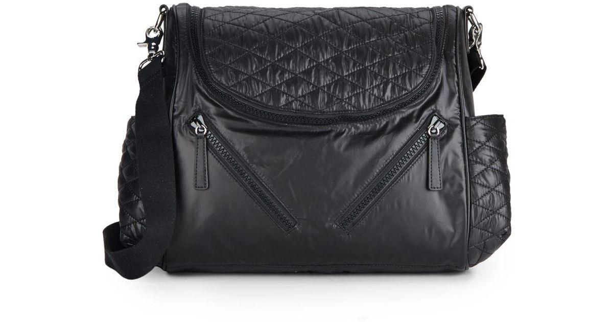 01b907c8367 Lyst - Rebecca Minkoff Jude Diaper Bag in Black