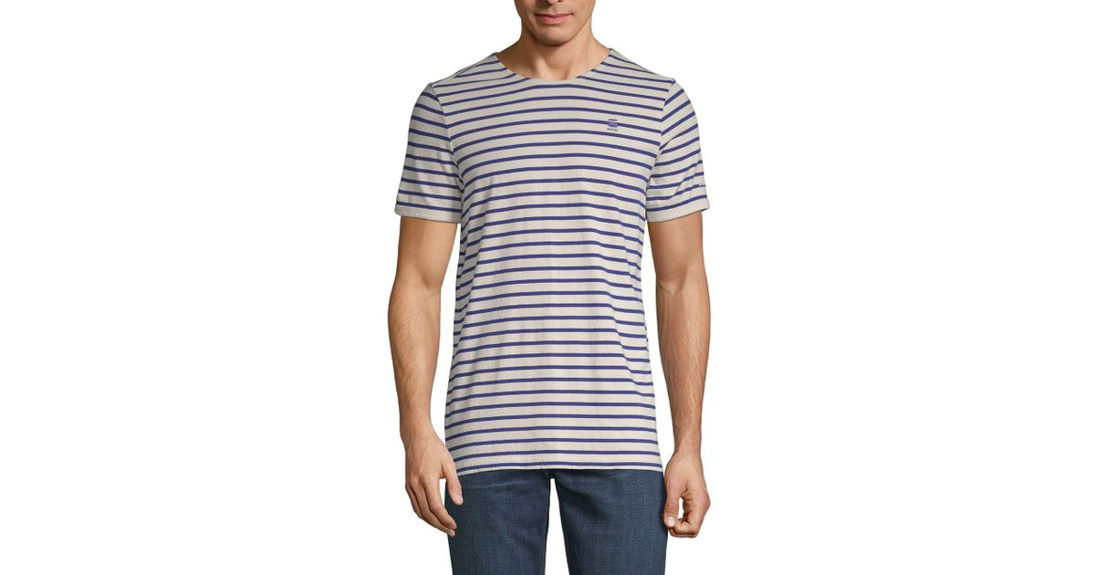 c6121a0670 Lyst - G-Star RAW Prebase Cotton Tee in White for Men