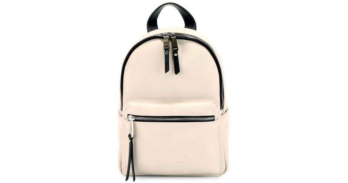 Lyst - French Connection Perry Faux Leather Mini Backpack in Natural 2b78913273a2c