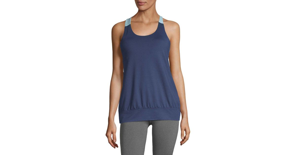 6c4d1e2bc8 Lyst - Gaiam Heather Mix Bra Tank Top in Blue - Save 54.166666666666664%