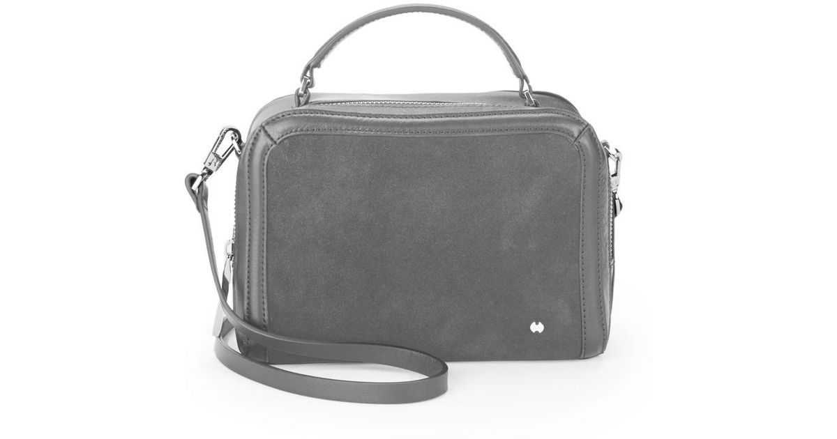 9366e6b8bc Halston Heritage Small Top Handle Crossbody Bag in Gray - Lyst