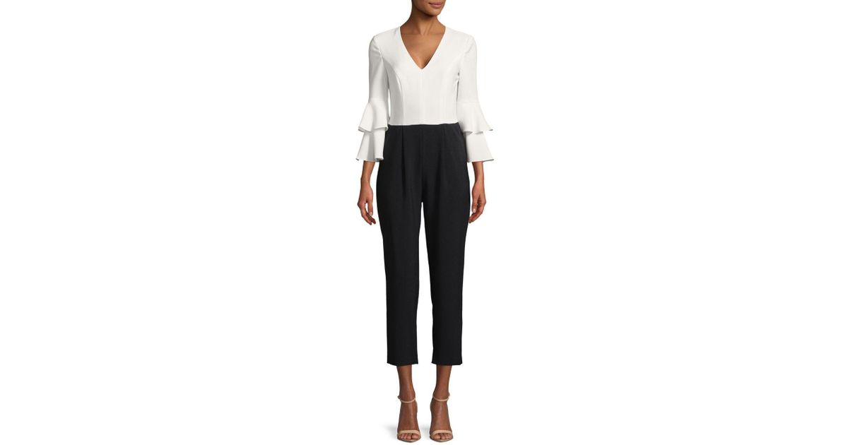 798cb366b49 Lyst - Maggy London Two-tone Jumpsuit in Black