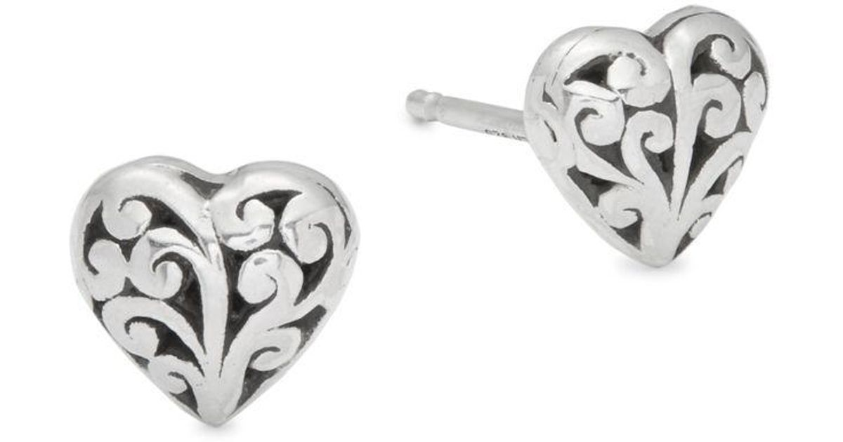 062d54cc6 Lyst - Lois Hill Signature Scroll Stud Earrings in Metallic