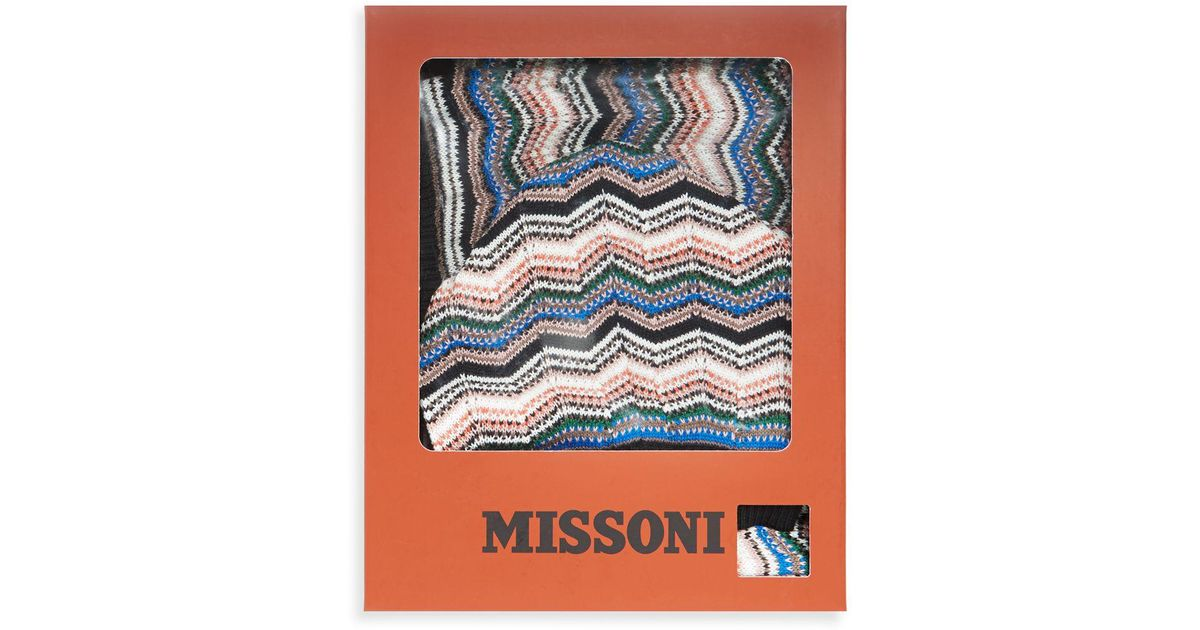 Lyst - Missoni Foulard Two-piece Multi Stripe Hat And Scarf Set ce84d705c261