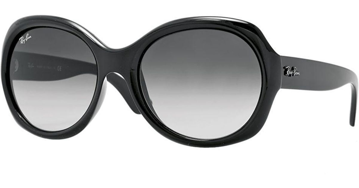 bfa9eaf5fccf Lyst - Ray-Ban 57mm Large Round Glam Acetate Sunglasses in Black