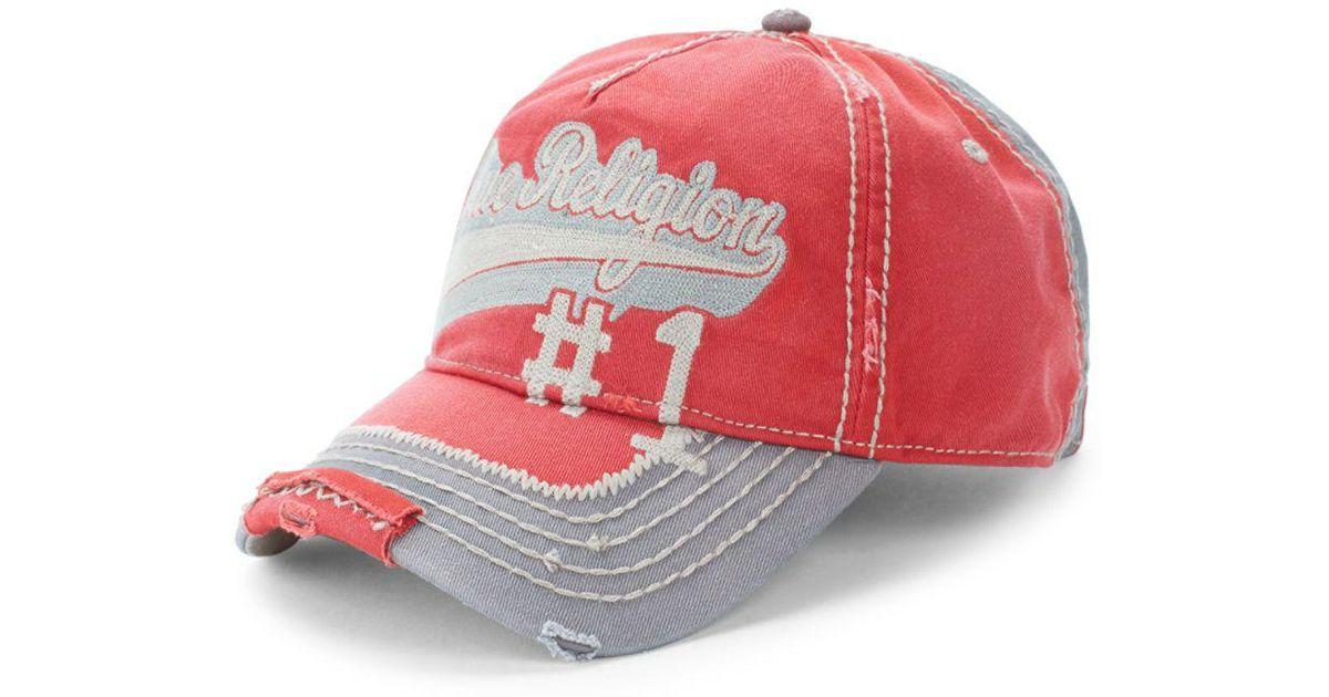 dae55d9b True Religion Logo Script Baseball Cap in Red for Men - Lyst