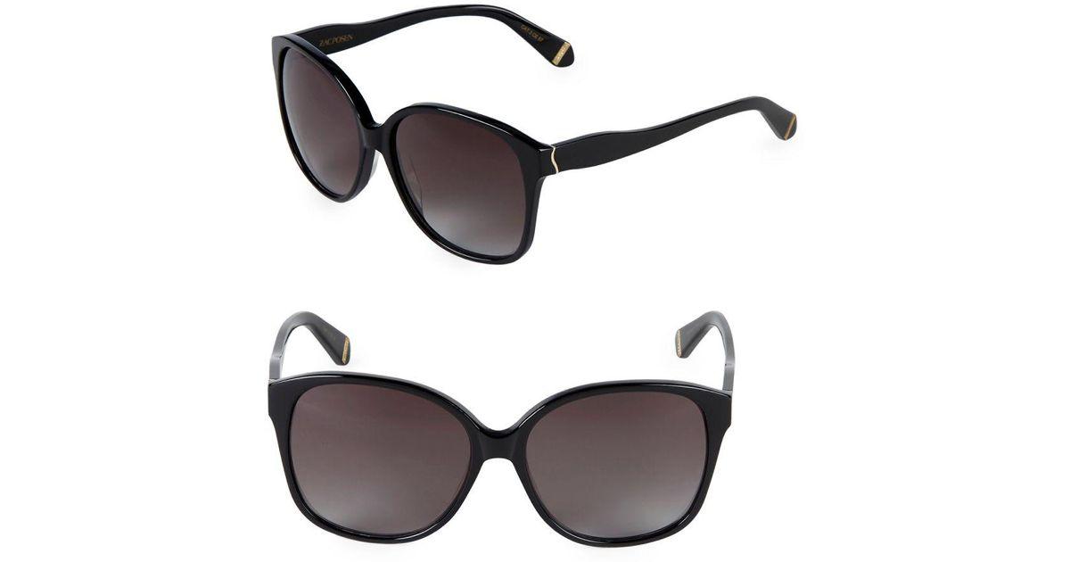 6b7c904ac07 Lyst - Zac Posen 58mm Square Sunglasses in Black