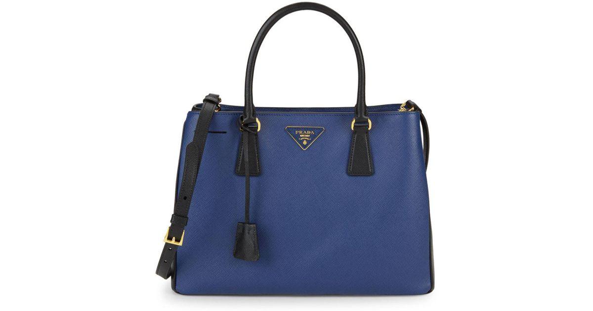 44b0b80c8f Lyst - Prada Saffiano Lux Tote Bag in Blue