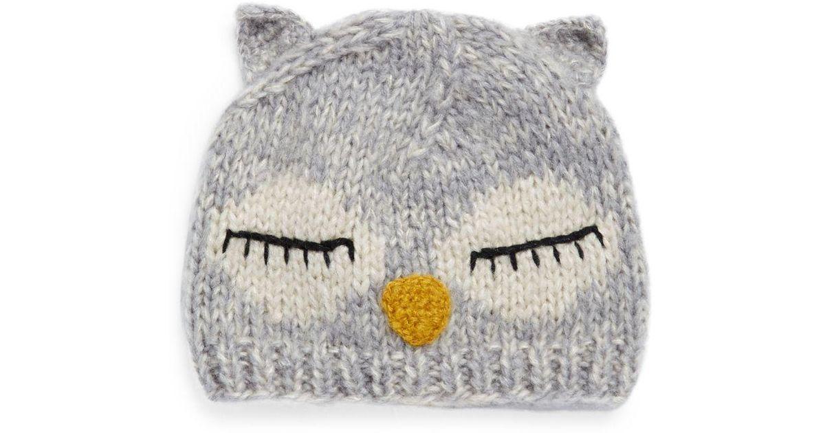 Lyst - San Diego Hat Company Knit Sleeping Owl Beanie 3f19952f0e0