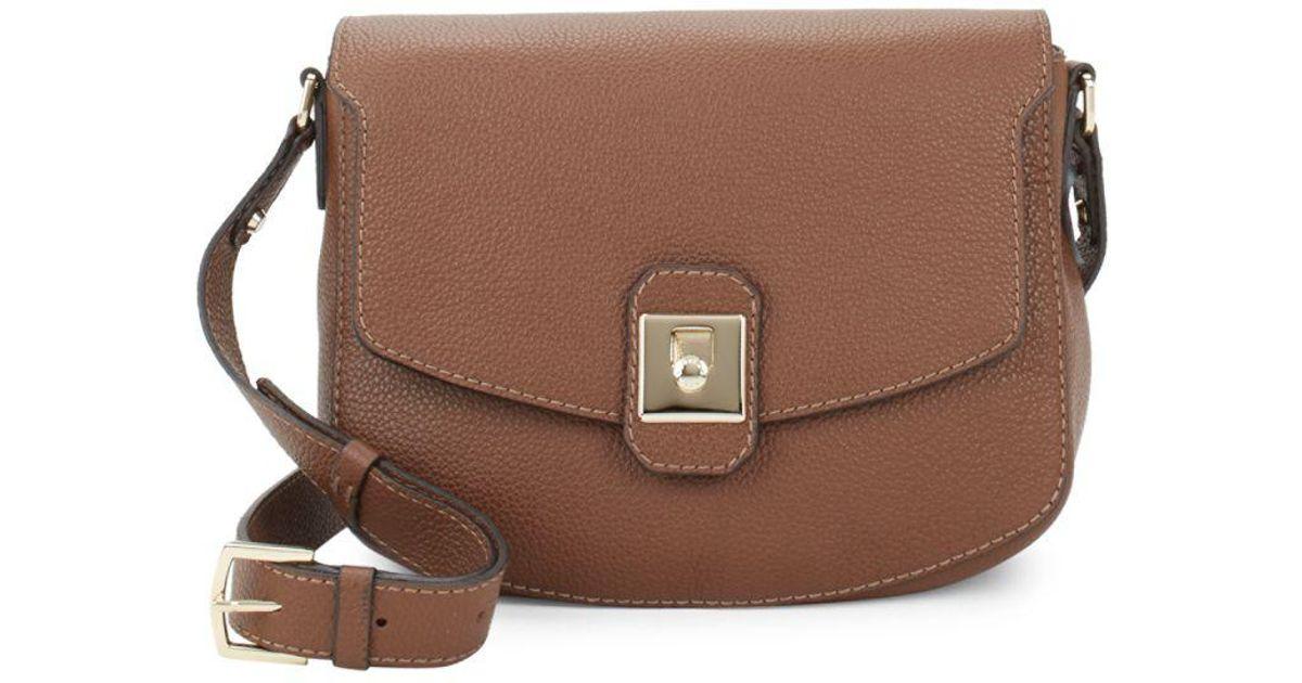 Lyst - Furla Jo M Leather Crossbody Bag in Brown 94a342871f100