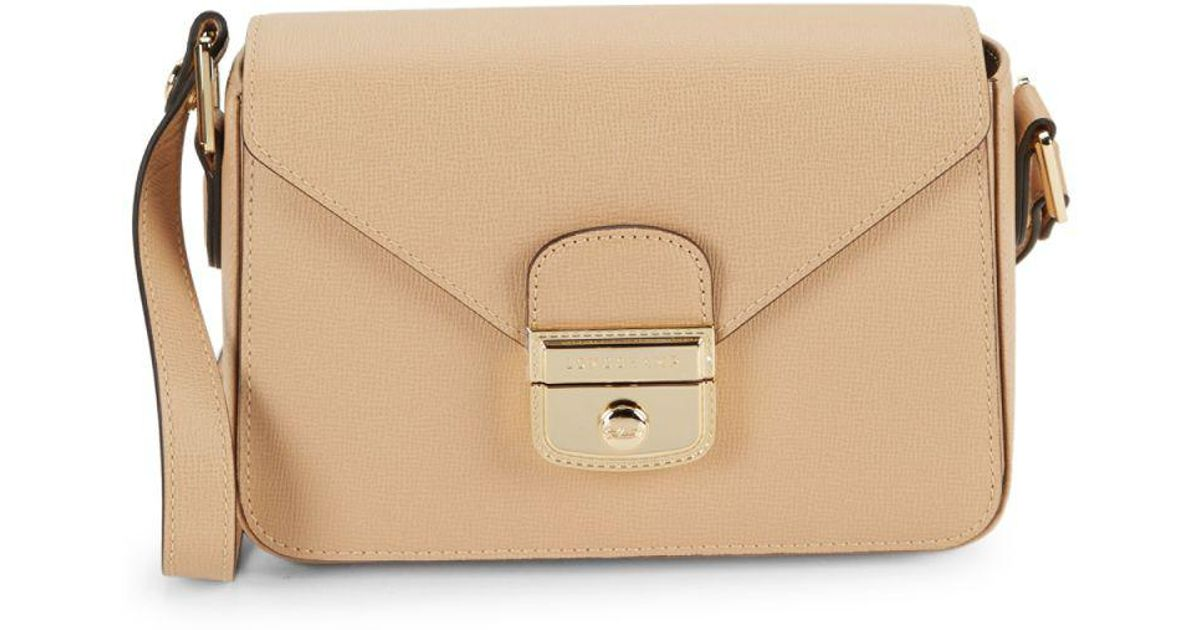 88f33050143f Longchamp Le Pliage Heritage Leather Crossbody Bag in Natural - Lyst