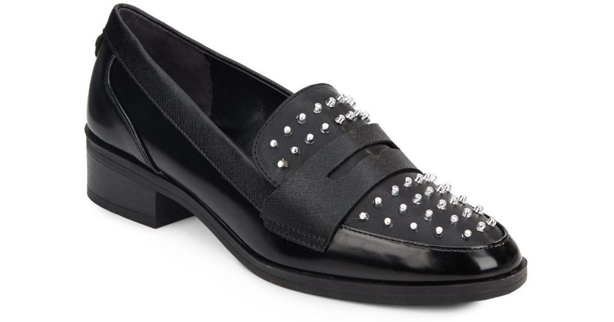 93479d6269b5ed Lyst - Circus by Sam Edelman Lali Studded Loafers in Black