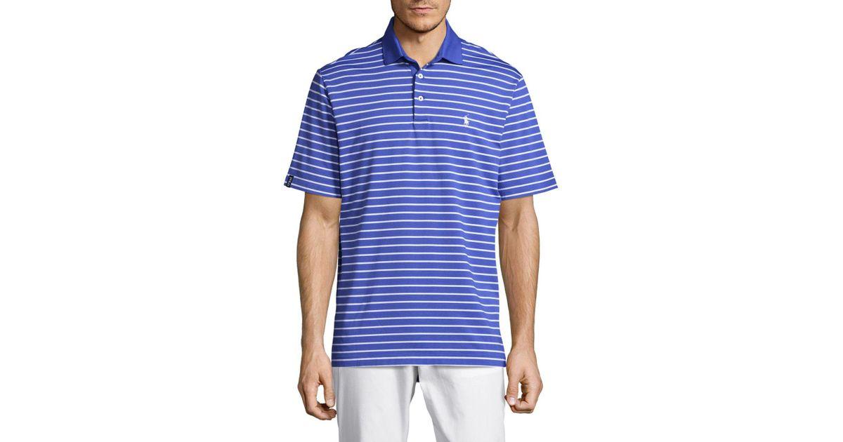 ralph lauren blue top horizontal striped polo shirts
