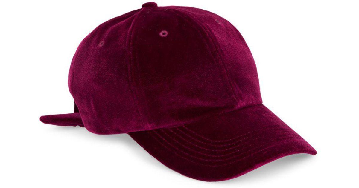 5d1b8b8f0d2 Lyst - San Diego Hat Company Velvet Bow Back Baseball Cap