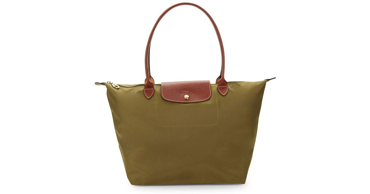 Longchamp Large Le Pliage Tote in Green - Lyst d9092cd02e41d