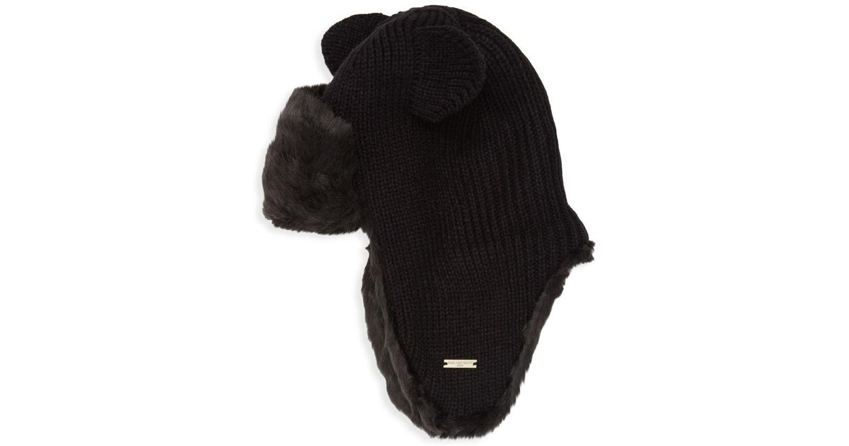 c76991cb2e5 Lyst - Karl Lagerfeld Kitty Ear Faux Fur Trapper Hat in Black for Men