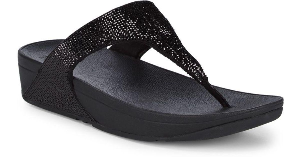 8bb9d7f6b92 Lyst - Fitflop Electra Micro Sequin Sandals in Black