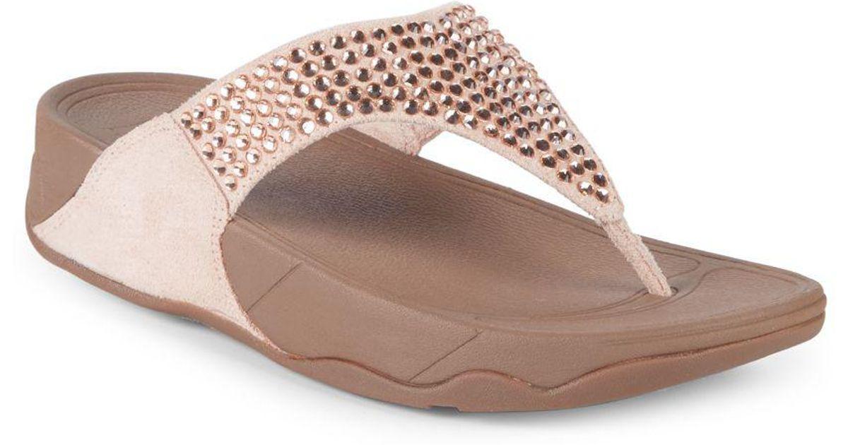 29b6d907ed8f Fitflop Glitzie Toe Thong Sandals - Lyst